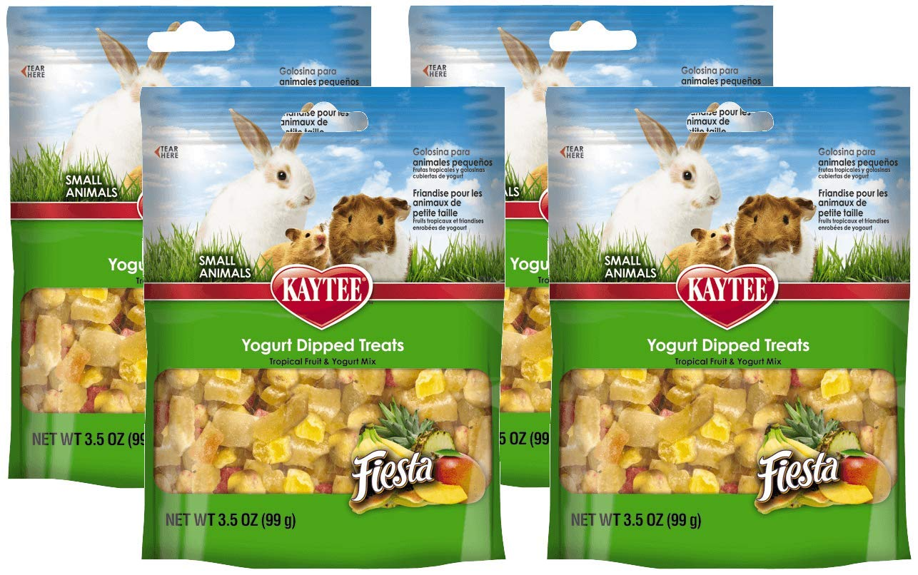 Kaytee Fiesta Yogurt Straw Chip Snacks for Small Animals, 14-Ounce
