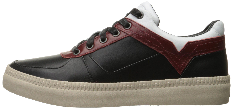 Diesel Men's V S-Spaark Low Fashion Sneaker, Black/White/Biking Red, 10.5 M US by Diesel (Image #5)