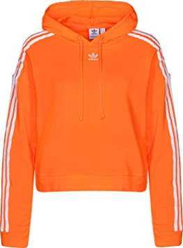 détaillant en ligne e3765 2a22c adidas Cropped Sweat-Shirt à Capuche Femme: Amazon.fr ...