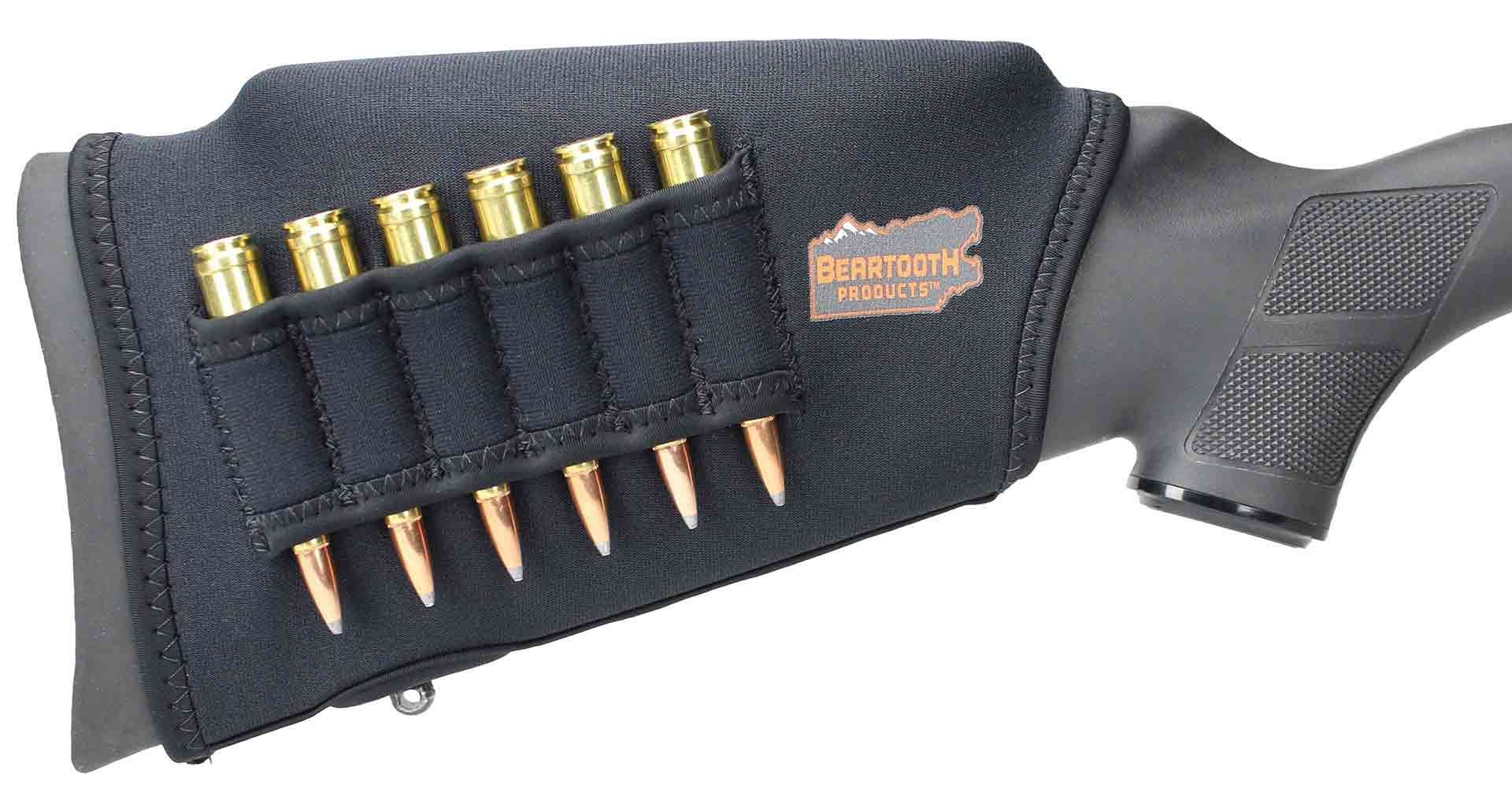Beartooth Comb Raising Kit 2.0 - Premium Neoprene Gun Stock Cover + (5) Hi-density Foam Inserts - RIFLE MODEL (Black - Left Handed) by Beartooth