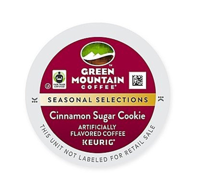 Green Mountain Coffee Roasters Cinnamon Sugar Cookie, Single-Serve Keurig K-Cup Pods, Flavored Light Roast Coffee, 96 Count