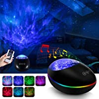 Galaxy Projector, Star Light Projector for Bedroom, Ocean Wave Projector Night Light Projector with Bluetooth Music…