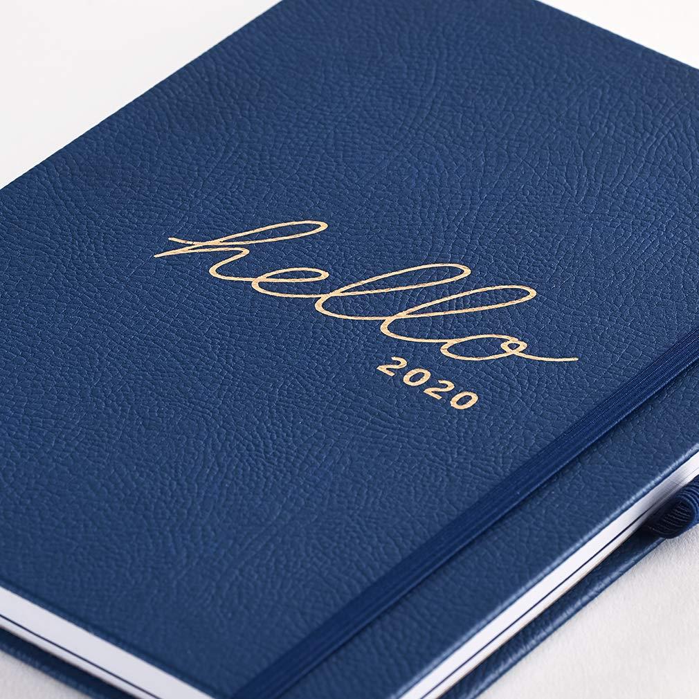 Agenda familiar 2020 Busy B - semanal A5 azul marino con espacio para 5 horario y notas para arrancar