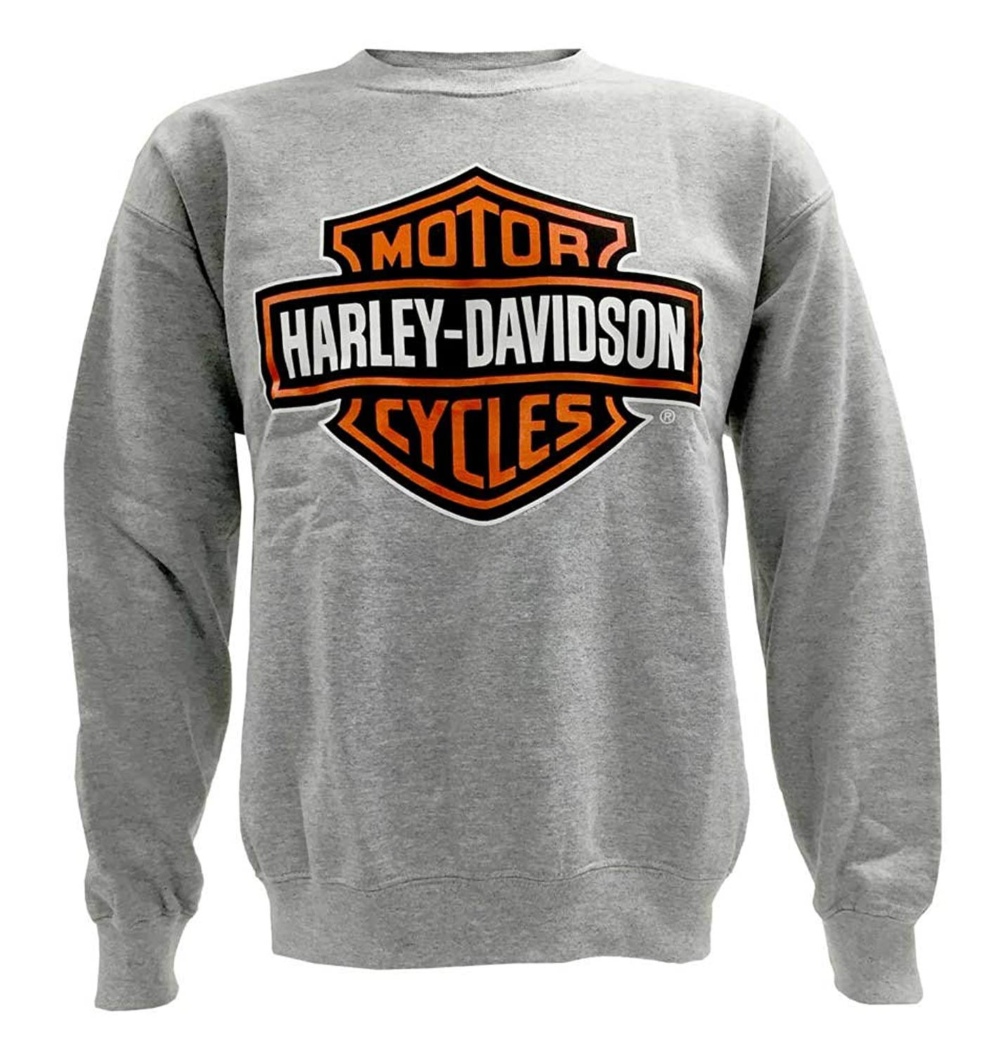Harley-Davidson Men's Bar & Shield Pullover Crew Sweatshirt, Gray ...