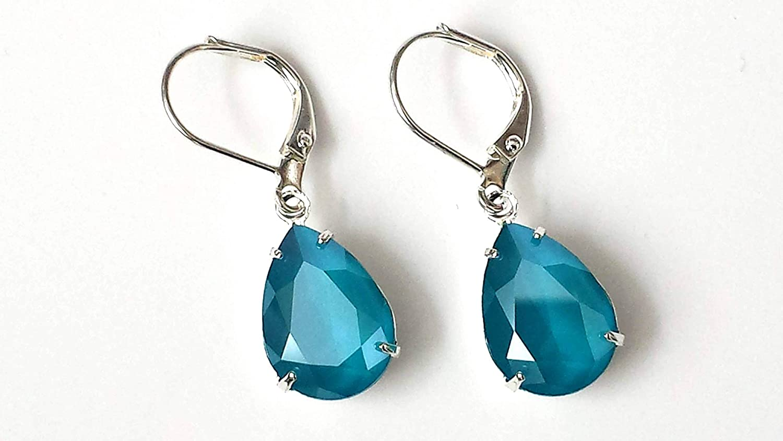 Nickel Free Hypoallergenic Azure Sky Glitter Stud Earrings Tiny Stud Earrings Sparkly Blue Earrings Pure Titanium Light Blue Studs