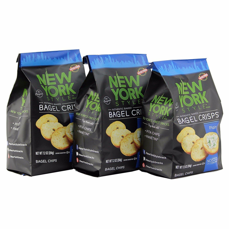 New York Style Bagel Crisps, Plain, 7.2 Ounce B&G Foods
