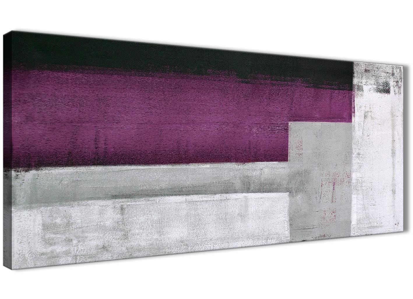 Lila Grau Wandbild Ölgemälde Wohnzimmer Leinwand Kunstdruck Zubehör–Abstrakt 1427–120cm Print Wallfillers