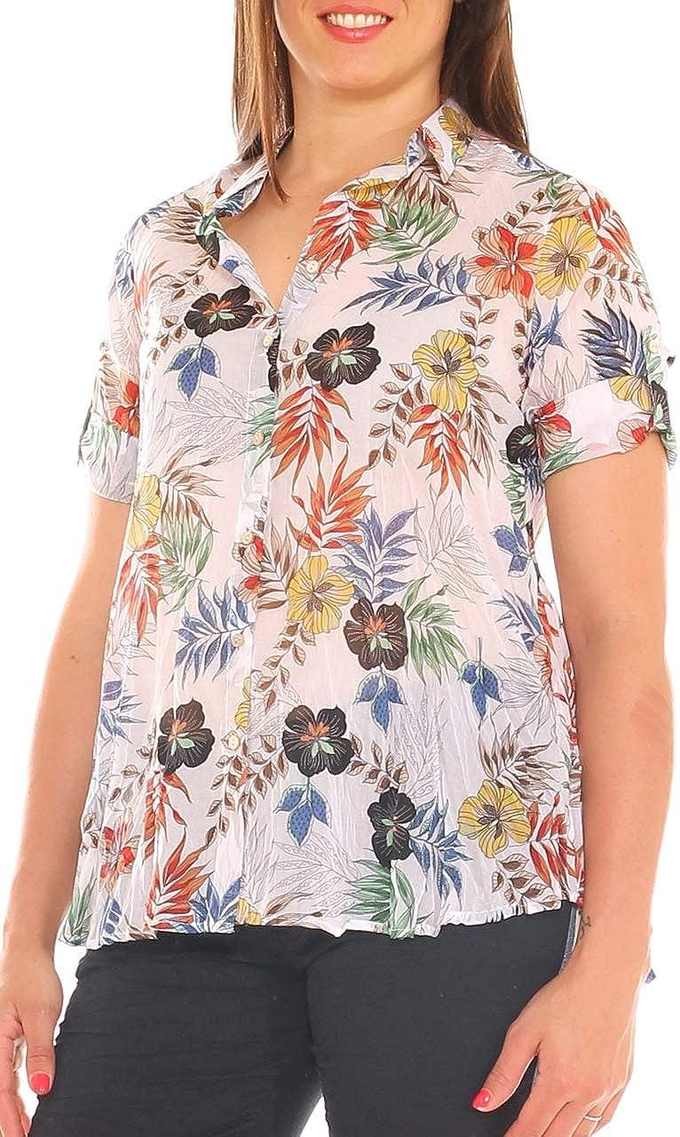 Valentinas - Camisa de Mujer con diseño de Flores, Efecto ...