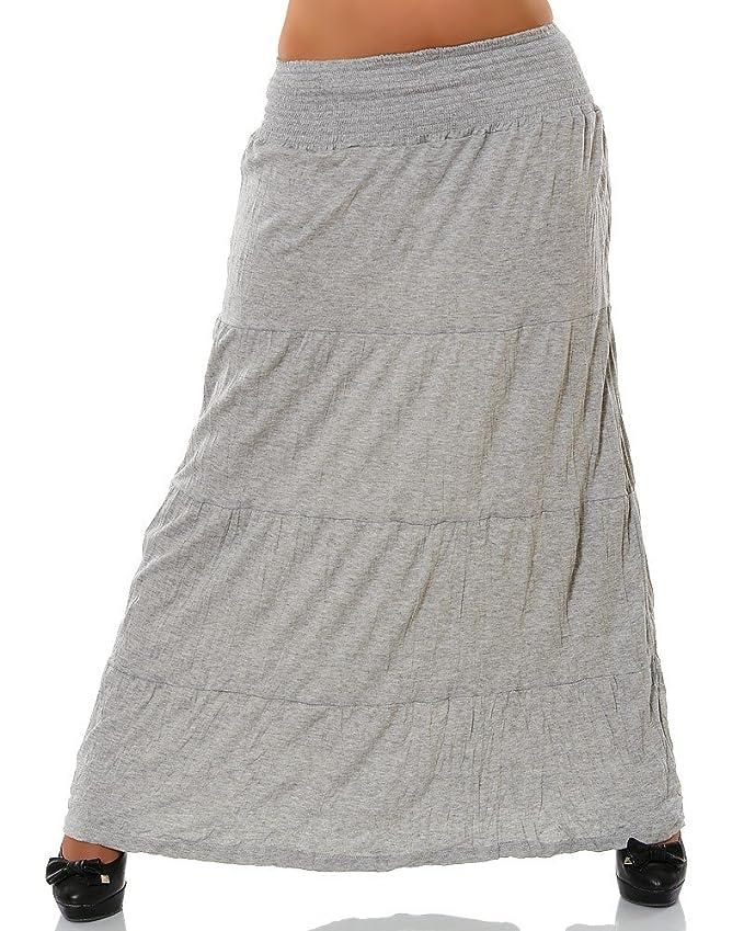 Damen Maxirock (weitere Farben) No 12903, Farbe:Braun, Größe:One Size:  Amazon.de: Bekleidung