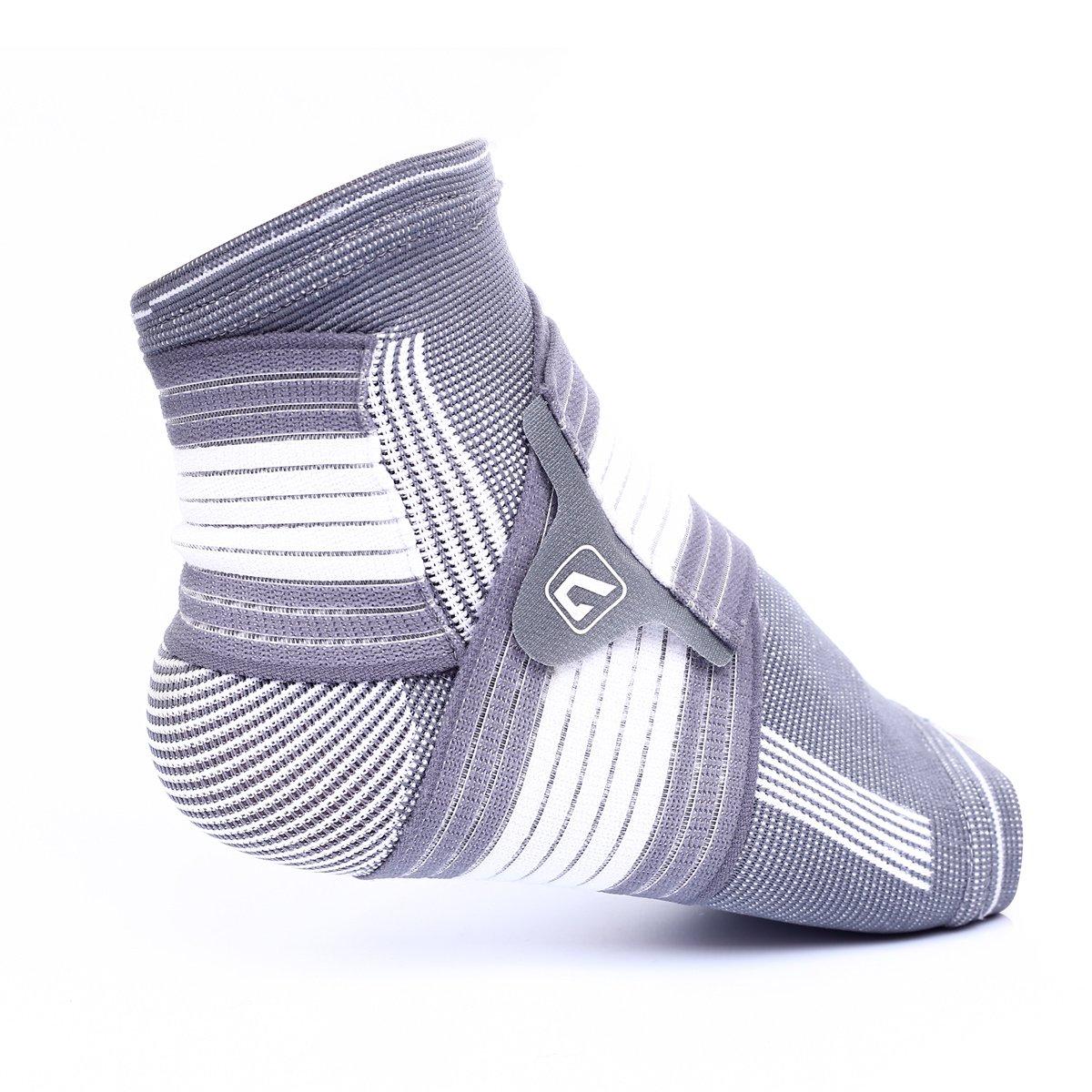 Tobillera Live Up SPORTS de compresión y soporte con envolturas elásticas integradas para correr, jugar baloncesto, caminar, trotar y uso diario, LS5674 Liveup SPORTS