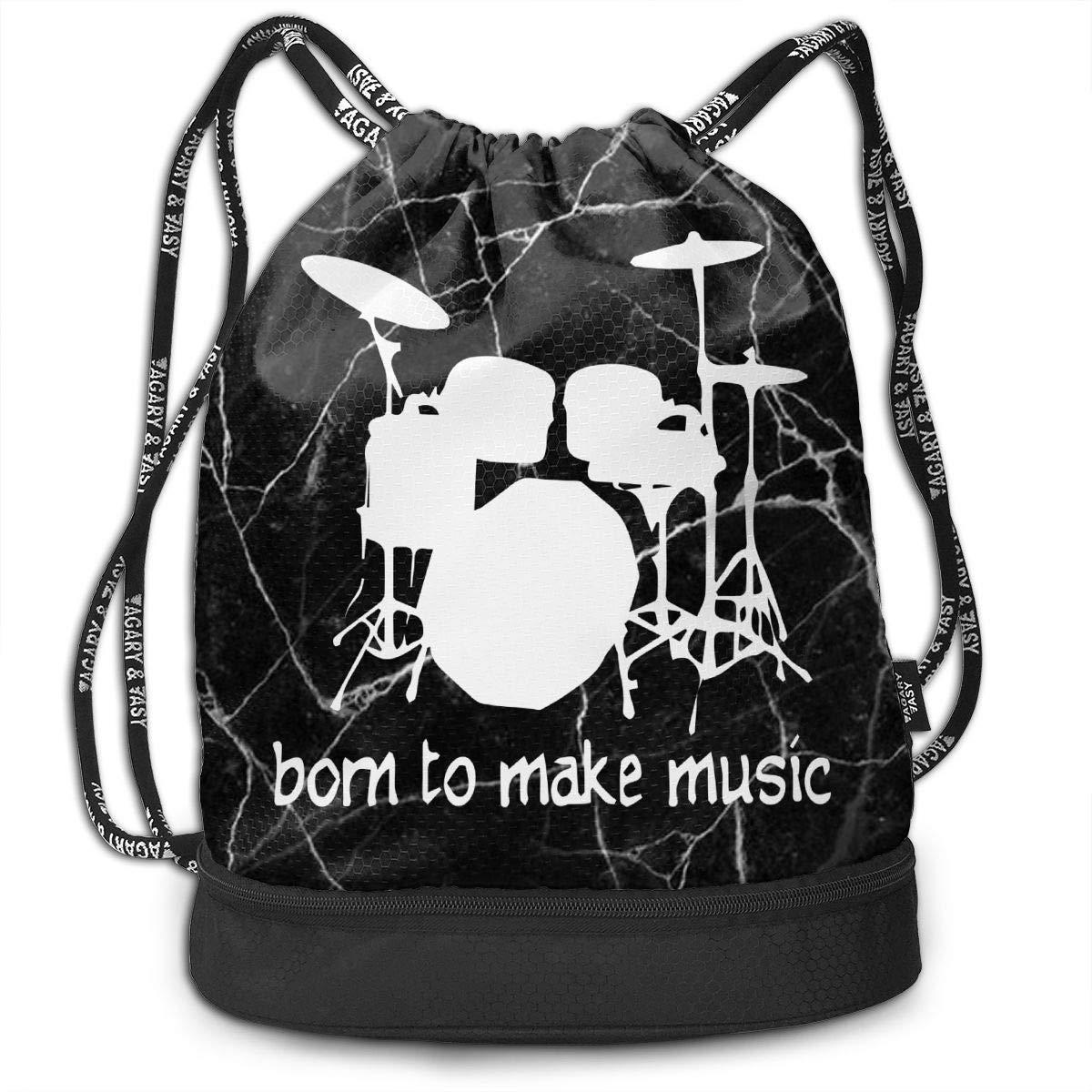 SG0HGO Drawstring Backpack Drummer Men /& Women Gym Sport Yoga Rucksack Shoulder Bags
