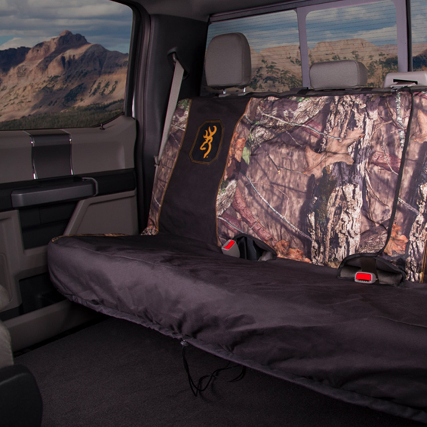 BSC5413 Break-Up SPG Bench Break-Up Signature Products Group Mid Size Browning Camo Seat Cover