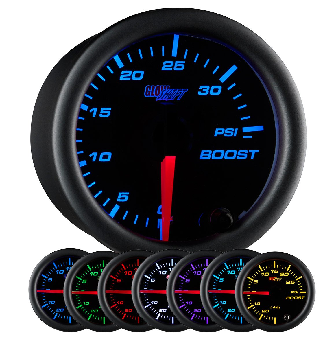 71VmG3692yL._SL1165_ amazon com glowshift black 7 color 35 psi boost gauge automotive  at couponss.co