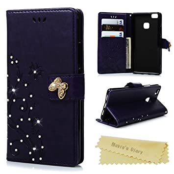 pu Cell Phone Accessories Cell Phones & Accessories Etui Folio A Rabat Huawei P9 Flip Cover Eco-cuir