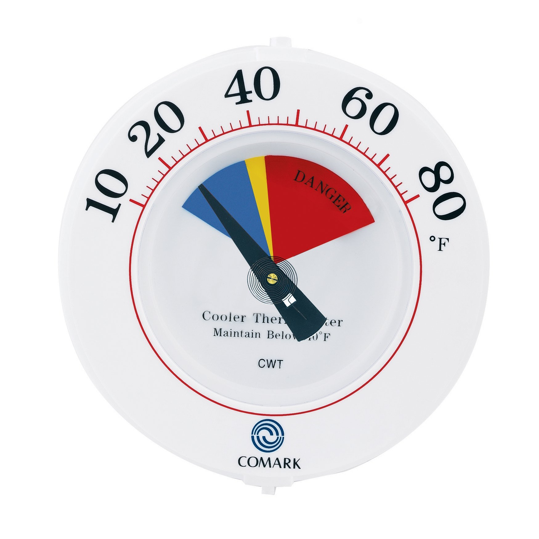 COMARK CWT Cooler Wall Thermometer with HACCP-Series Zones, 10 to 80F