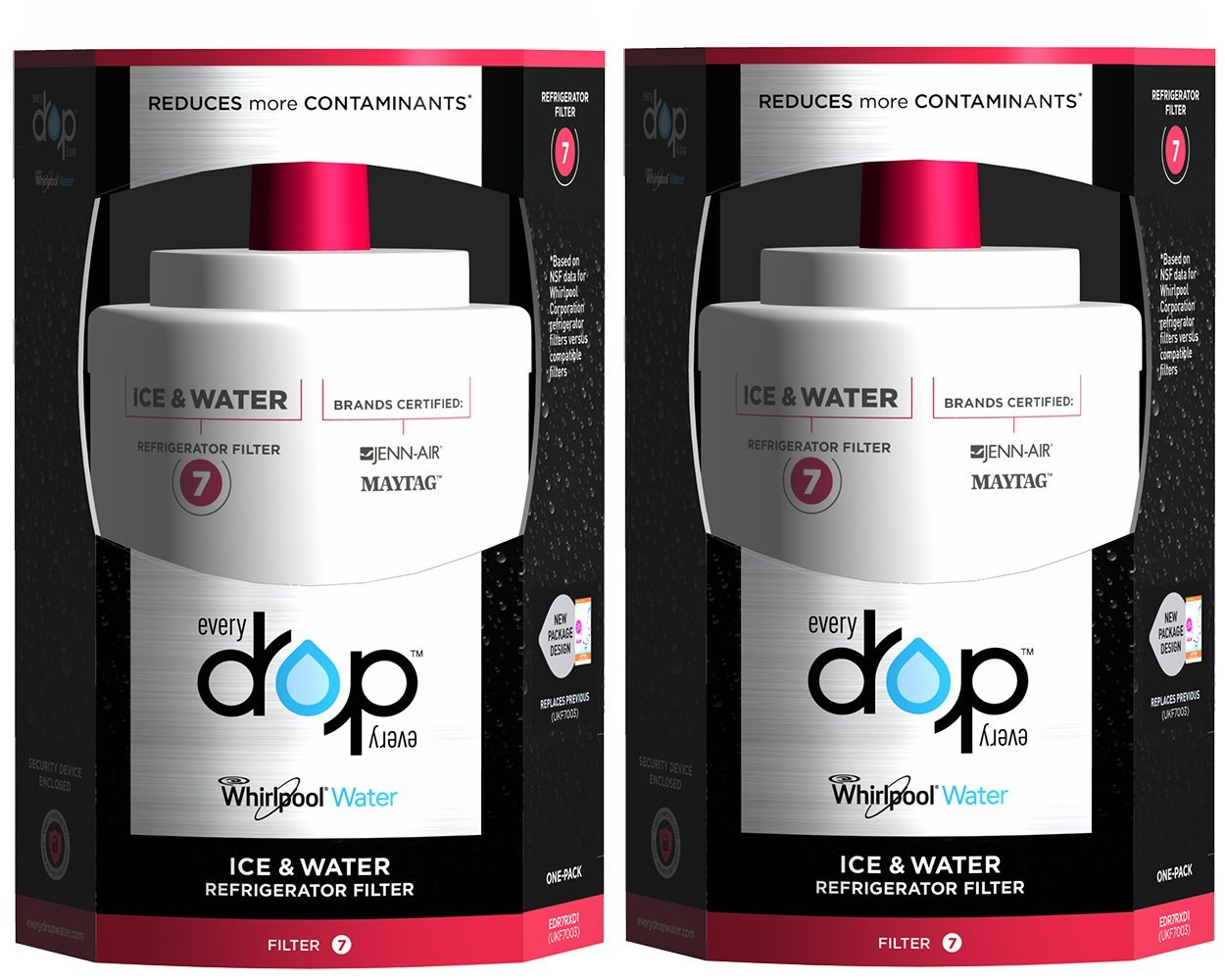 EveryDrop by Whirlpool Refrigerator Water Filter 7 (Pack of 2) by EveryDrop by Whirlpool (Image #1)