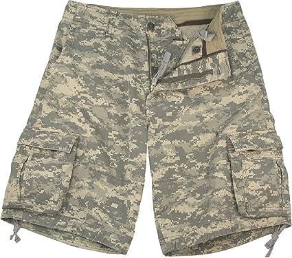 aa95647dba Amazon.com : Camouflage Vintage Military Infantry Utility Cargo Shorts :  Sports & Outdoors