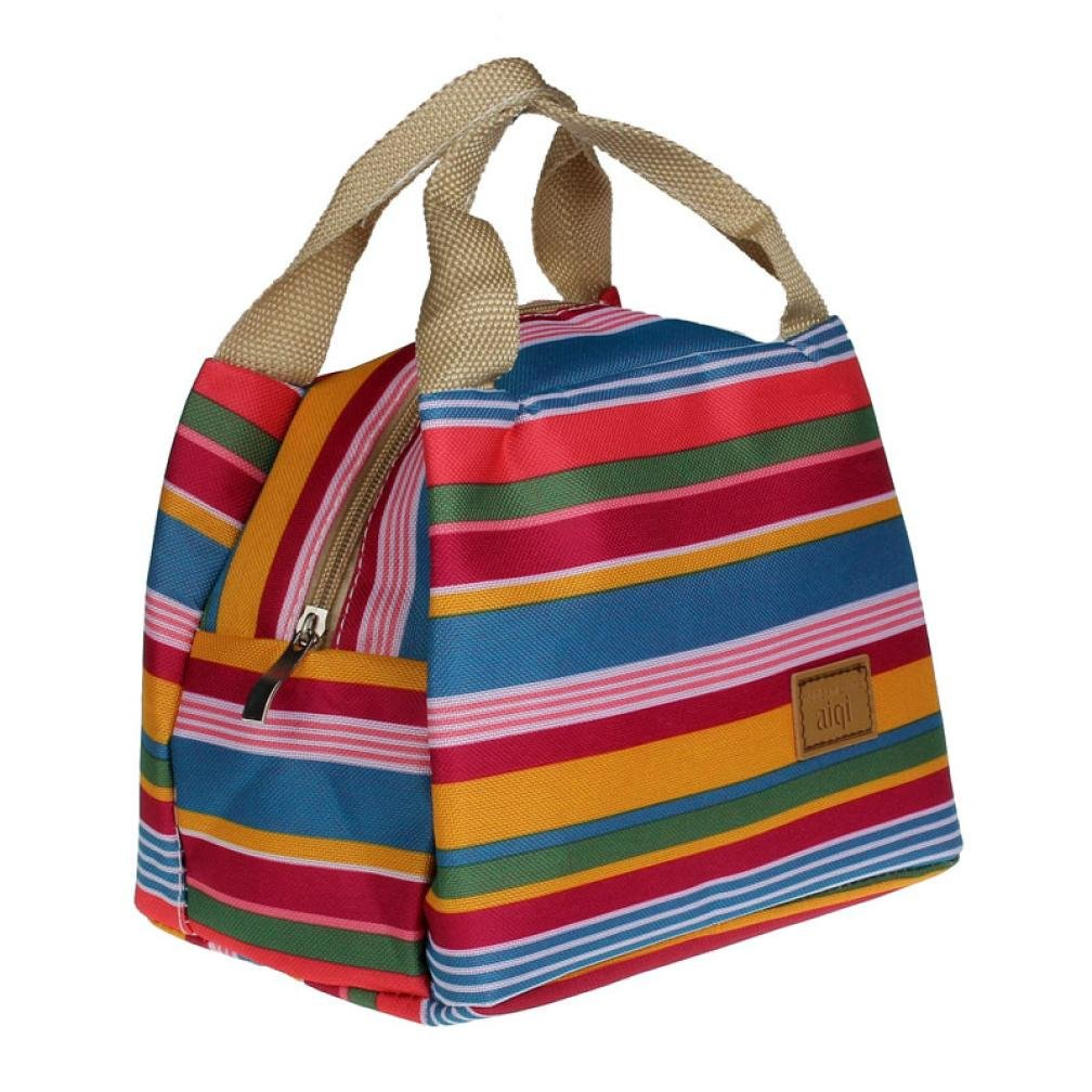 Auwer Clearance Sale! Picnic Insulated Food Storage Zipper Box Tote Bento Pouch Lunch Bag (E)