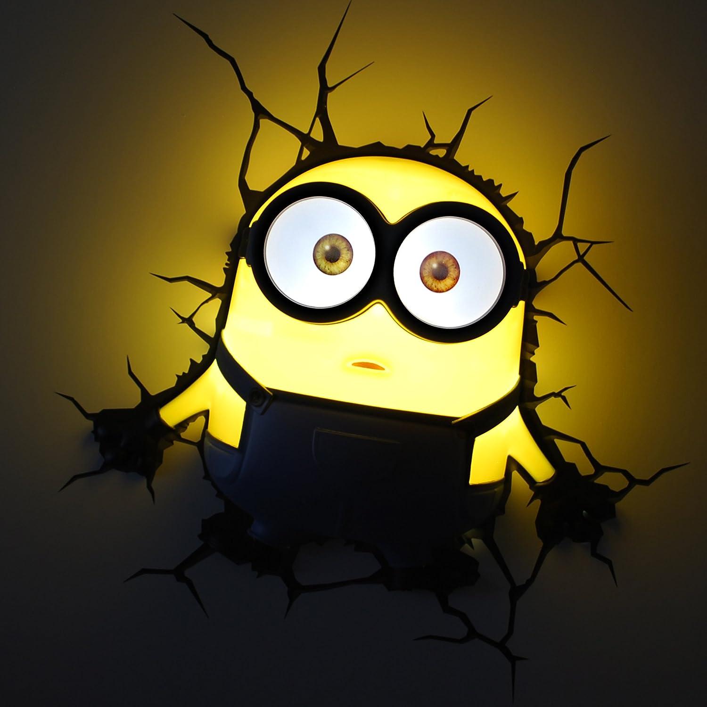 Amazon.com: 3D light FX Despicable Me Minions Bob 3D Deco LED Wall ...