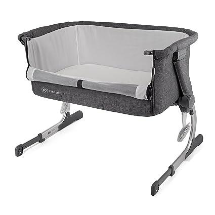 Cuna de colecho con colchón Kinderkraft UNO 2 en 1 para bebés, niños, cuna