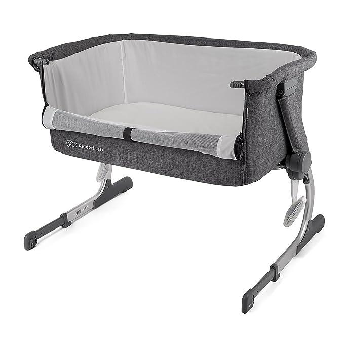 Cuna de colecho con colchón Kinderkraft UNO 2 en 1 para bebés, niños, cuna de viaje: Amazon.es: Bebé