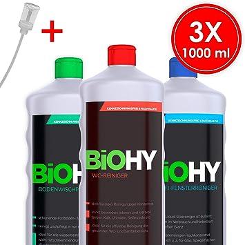Biohy – Juego de detergente profesional con dosificador (3 x 1 l ...