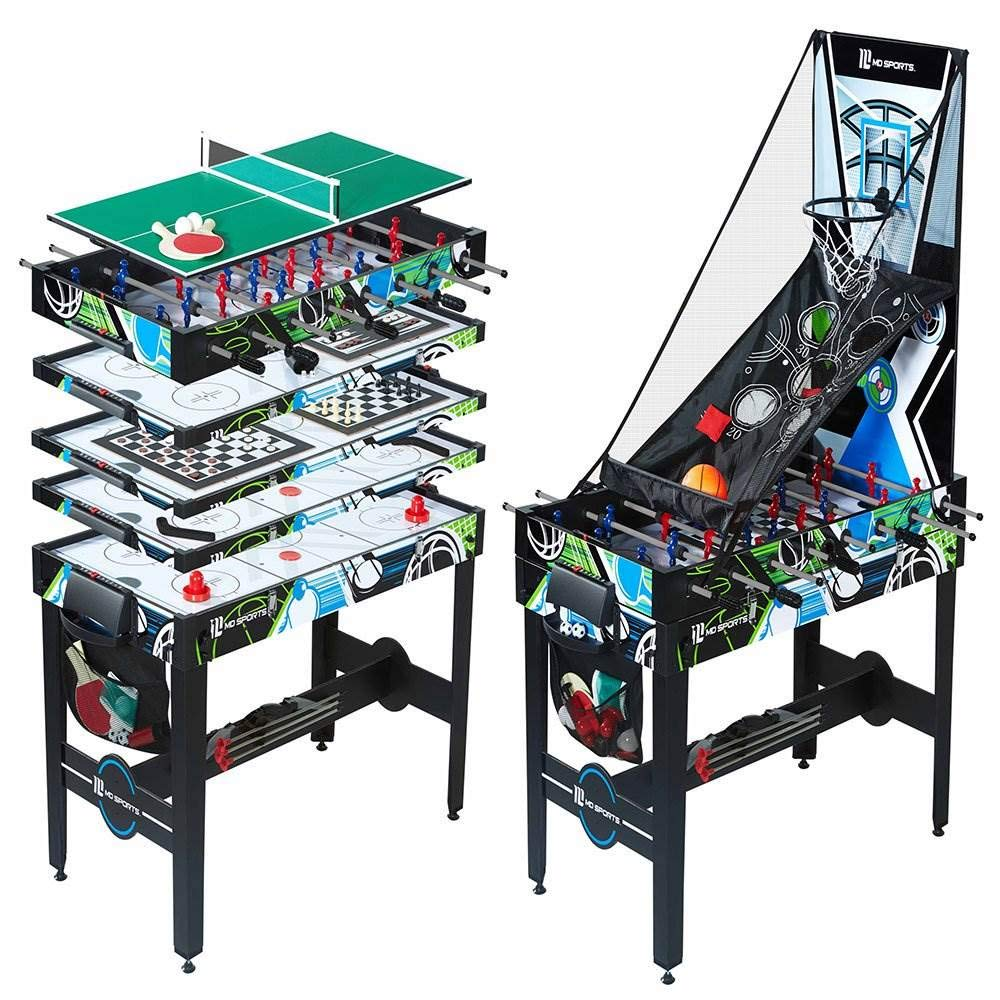 MD Sports 48 Inch 12 in 1 Combo Manual Scoring System Multi Game Room Table by MD Sports