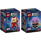 LEGO BrickHeadz Iron Man & Thanos Bundle, Avengers Infinity War (206 Pieces)