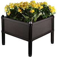 T4U Plastic Assemble Garden Planter Raised Elevated Garden Bed