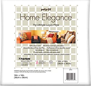 Fairfield Home Elegance Pillow, 14 by 14-Inch