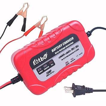 Amazon.com: catbo 2 Amp Smart Cargador De Batería Mantenedor ...