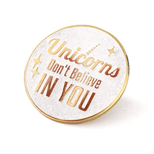 Amazon com: Compoco Unicorn Enamel Pin Typographic Lapel Pin Gold