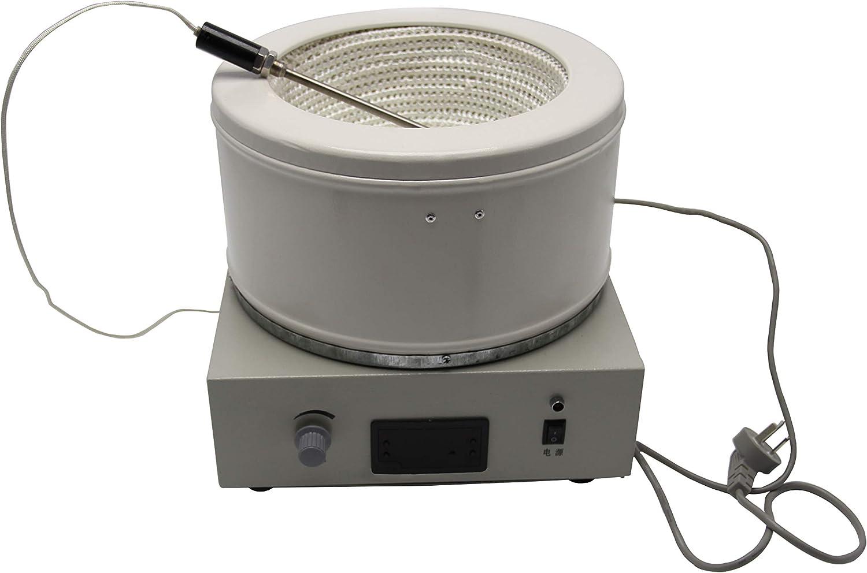 MXBAOHENG 5000ml Digital Magnetic Stirring Electric Heating Mantle Temperature Adjustable Digital Display Heating Equipment 110V or 220V (220V)