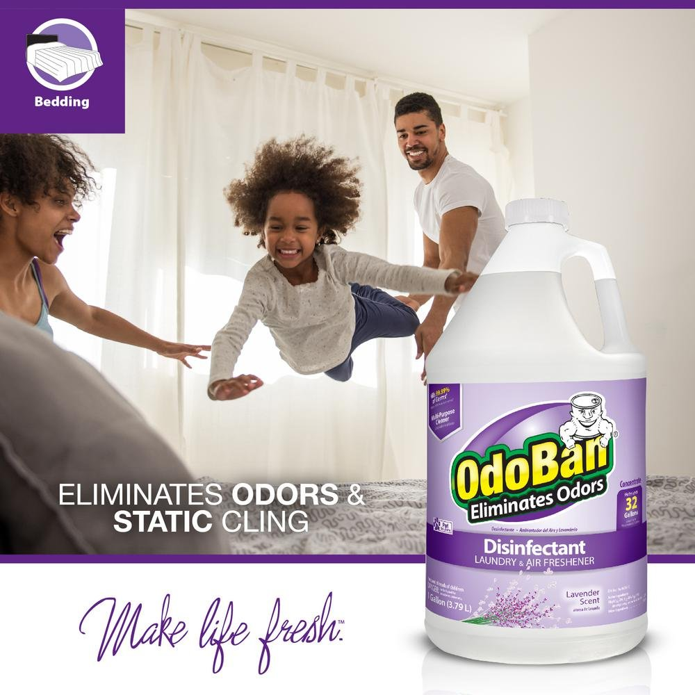 OdoBan Odor Eliminator and Disinfectant Concentrate, Lavender (2 Gal) by OdoBan (Image #5)