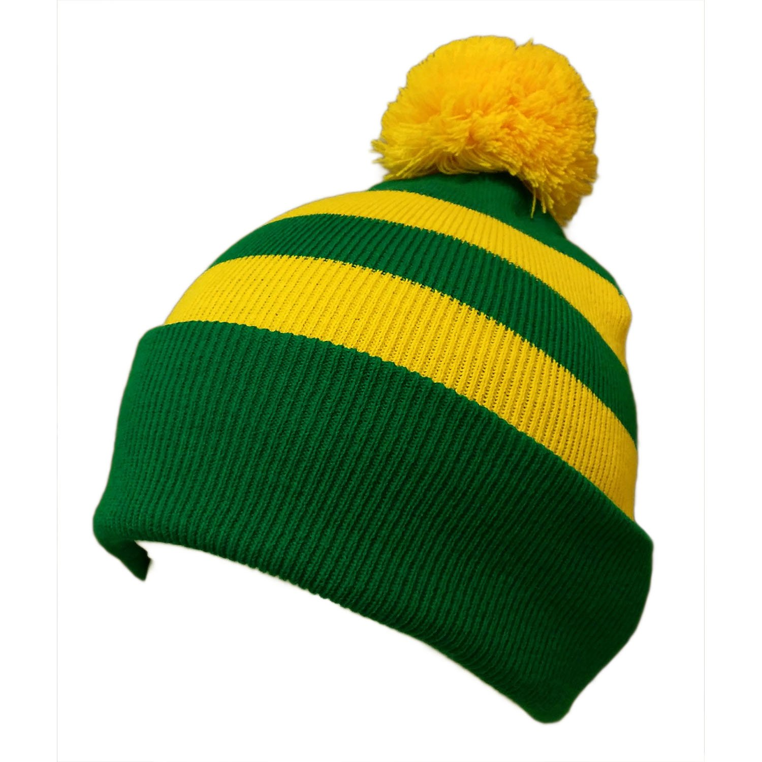 e1947284852 Bobble Hat Selection (Green and Gold)  Amazon.co.uk  Sports   Outdoors
