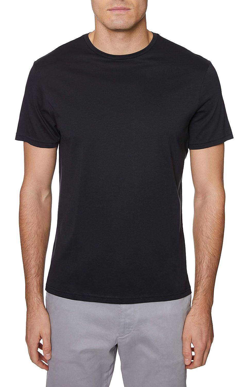 Hickey Freeman Silver Mens Short Sleeve Pima Cotton Crew Neck T-Shirt