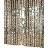 Room Leaf Tulle Door Window Curtain Home Balcony Decor Drape Panel Curtains 200cm x 100cm/78.74 inch x 39.37 inch Khaki