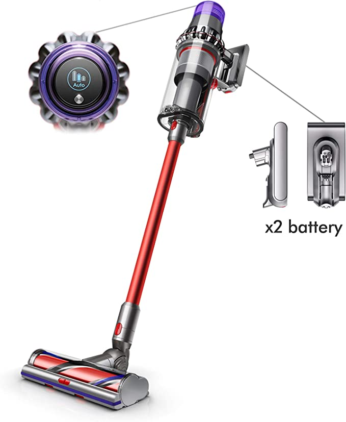 Dyson V11 Outsize Cordless Vacuum Cleaner, Nickel/Red best cordless vacuum