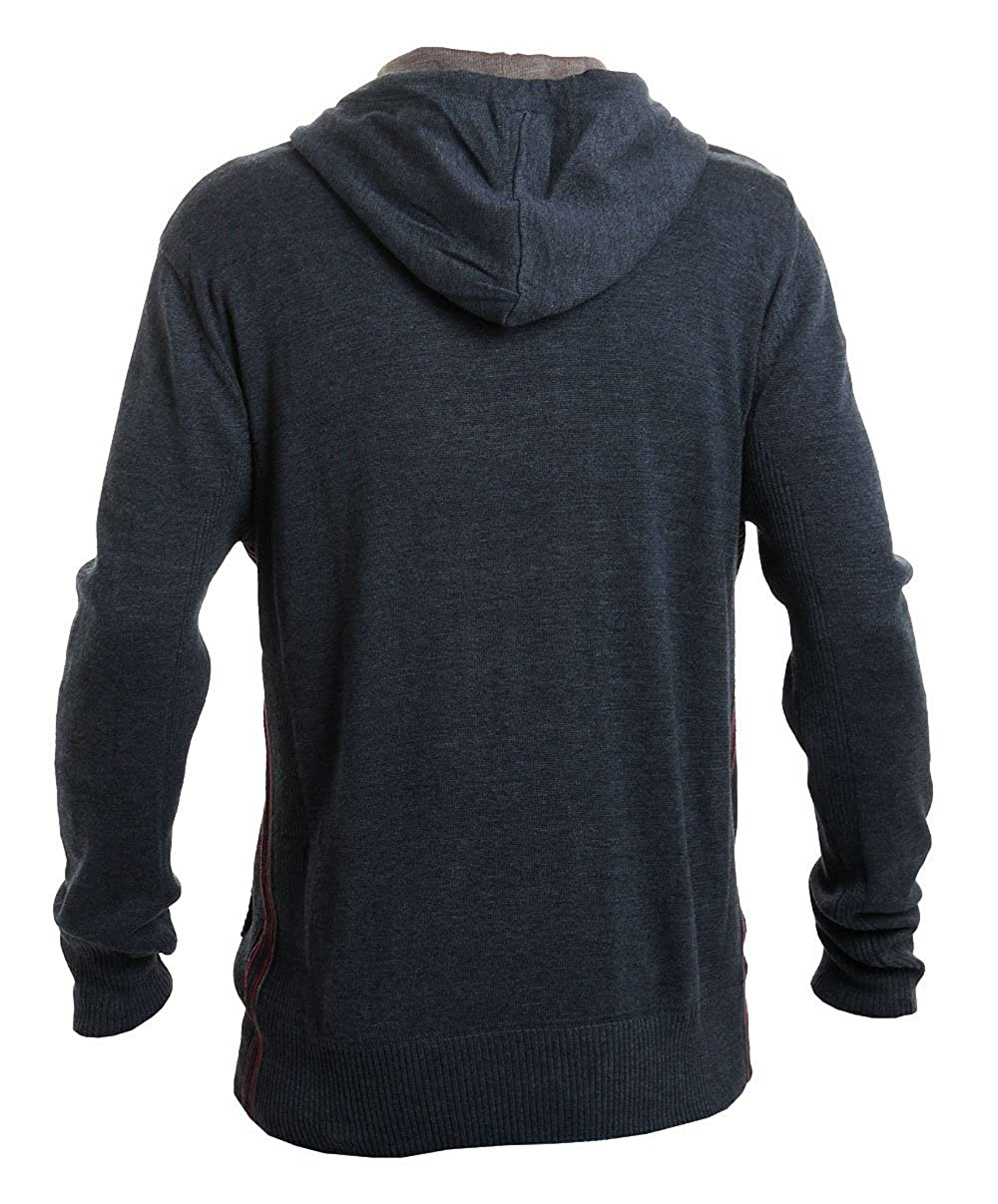 Mens Jumper Ringspun Knitted Sweater Pullover Top Hooded Long Sleeved Winter New