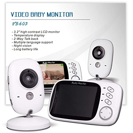 Wireless Video Baby Monitor with Digital Camera 3.2 Inch Screen Night Vision WiFi Camera Two Way Talkback Audio and Lullaby Soother System