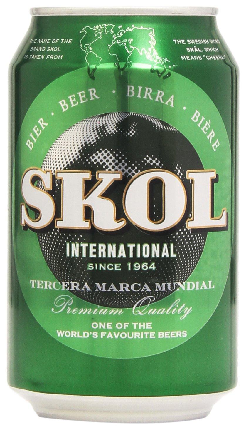 Skol - Cerveza - 4.6% Vol. - 330 ml: Amazon.es: Alimentación y bebidas
