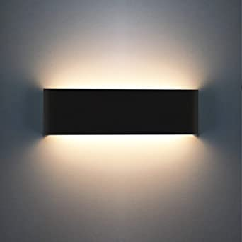 Oowolf Lámpara De Pared Interior, Iluminación Decorativa Luz De Pared Led Arriba Abajo, Efecto De Luz Interior Para Salón, Dormitorio, Cuarto De Baño, Pasillo, Estudio, Escaleras: Amazon.es: Iluminación