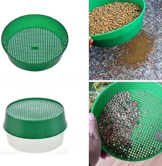 Outil en Plastique Durable PETSOLA Outil De Compostage De Jardin pour Tamis /à Mailles De 3 Mm Dia