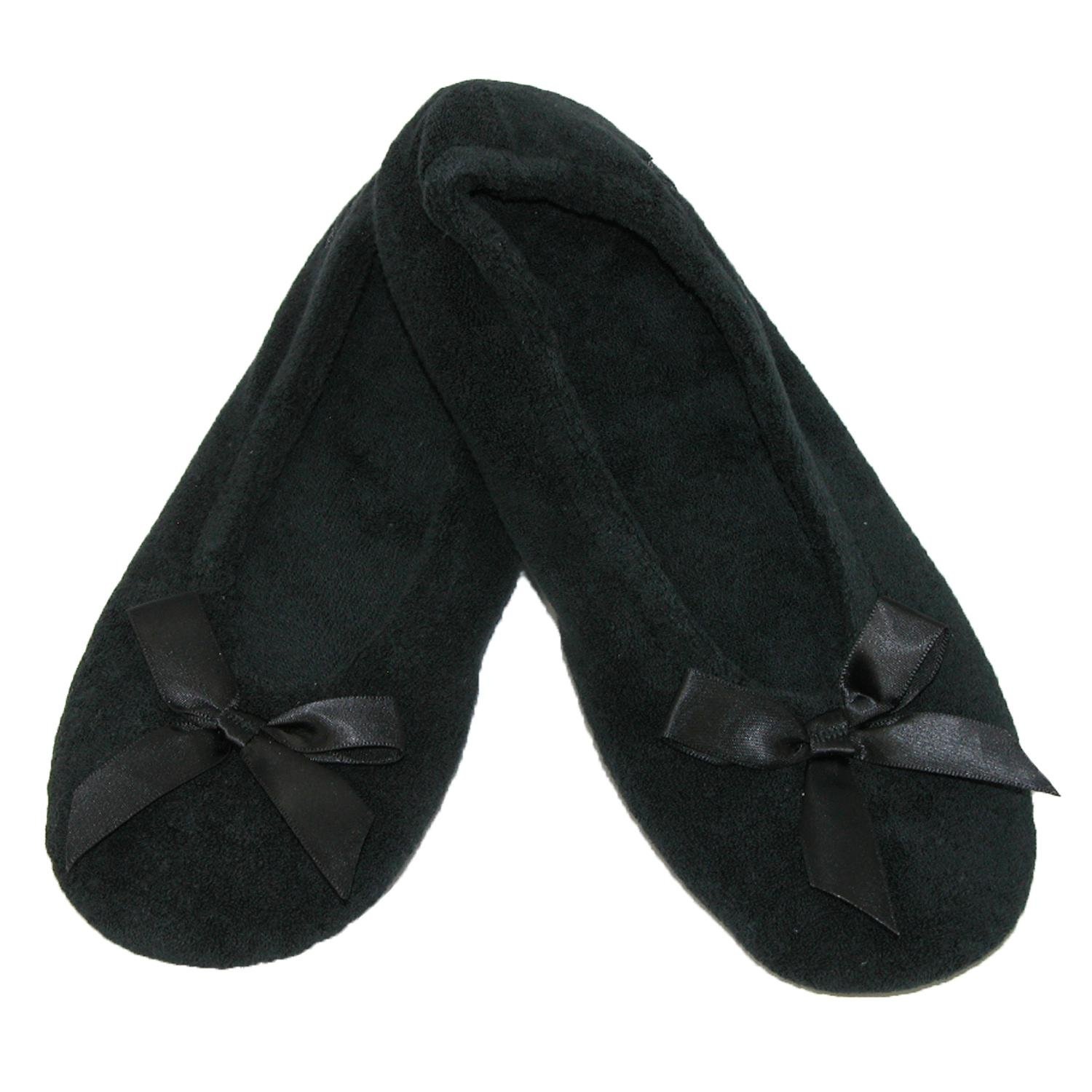 Isotoner Damens's Terry Classic 2), Ballerina Slippers (Pack of 2), Classic Large - ae15d7