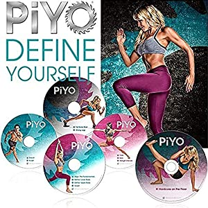 ZONEV PiYo Base Kit 5 DVDs Workout with Exercise Videos & Fitness Tools and Nutrition Guide