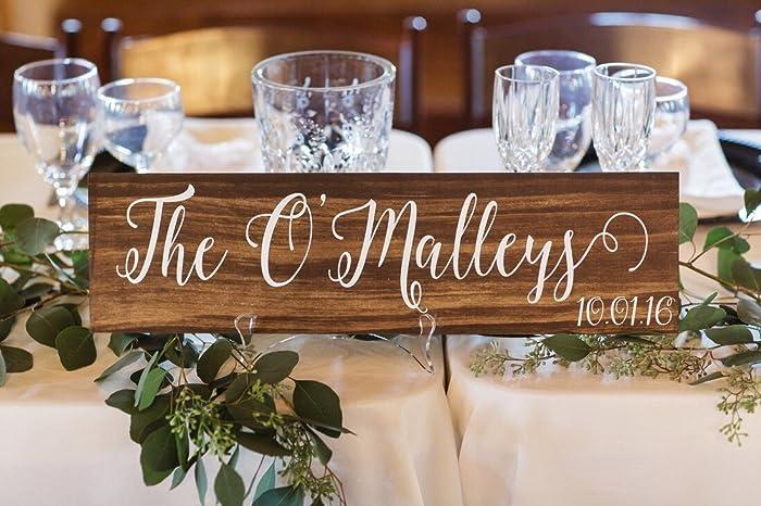 Amazon last name sign with wedding date personalized last name sign with wedding date personalized wedding decor junglespirit Gallery