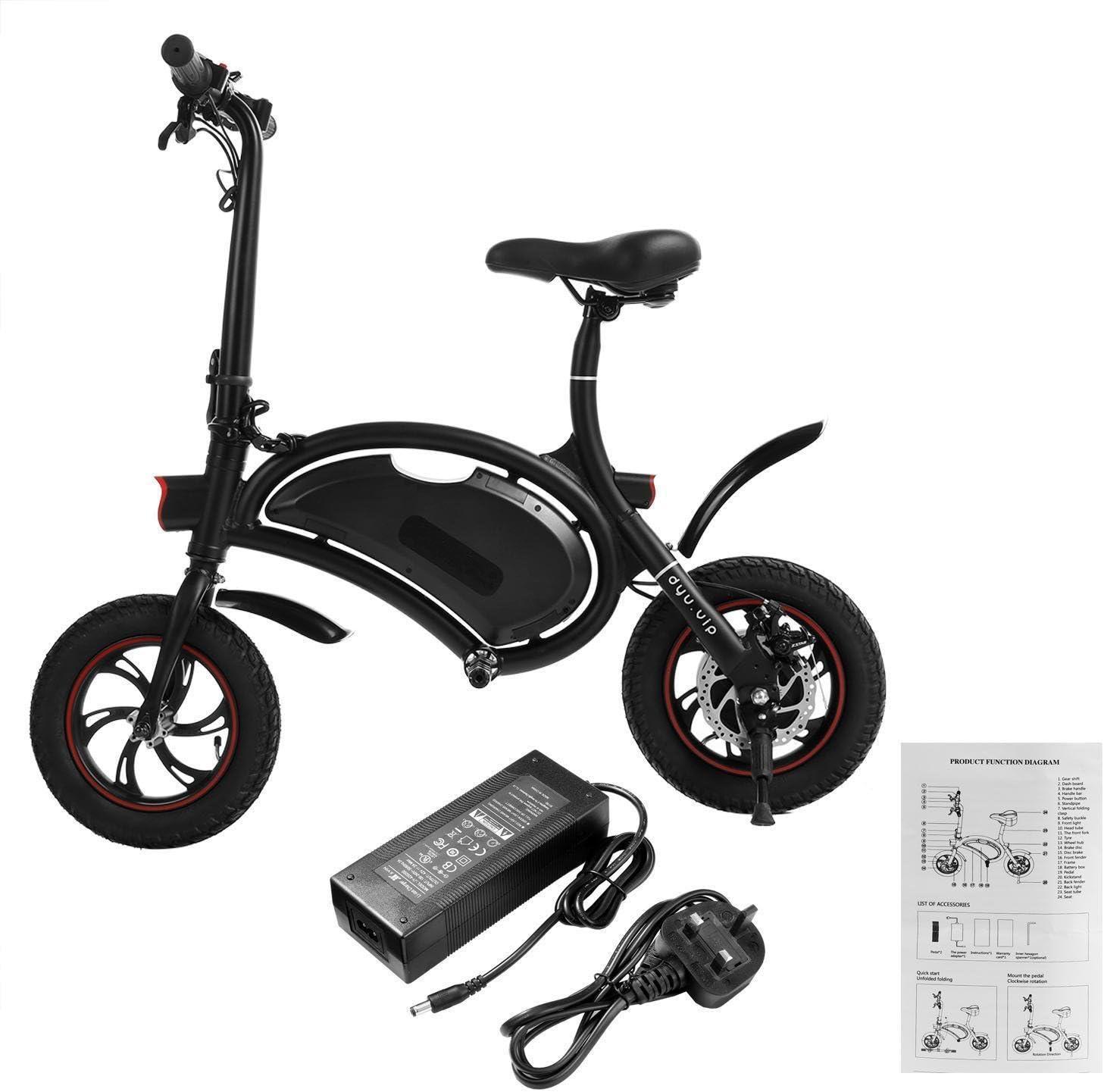 Bicicleta eléctrica de aluminio Teamyy con batería recargable de ...