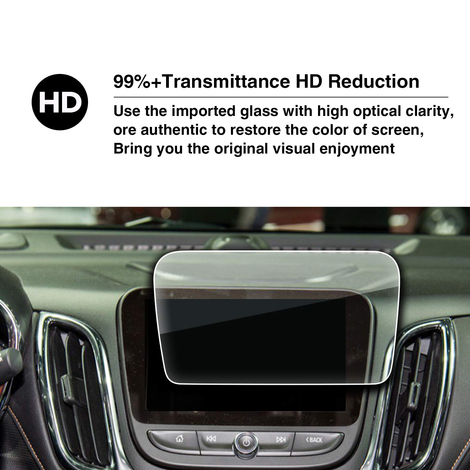 Protect The Car Interior Screen HXY YEE PIN LT Premier My Link 8 Inch Anti-Explosion Toughened Film
