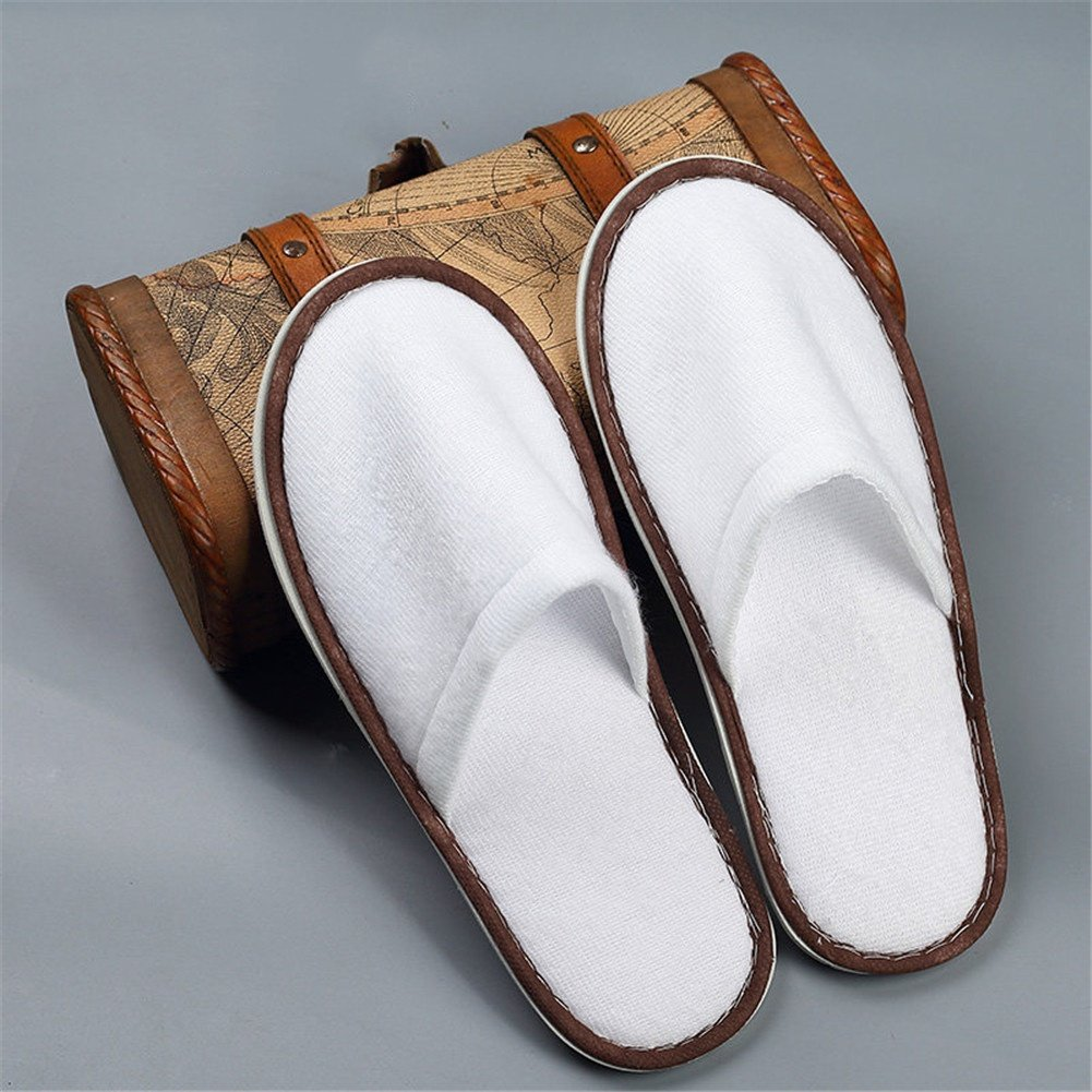 LQFLD Spa /& Hotel Disposable Slippers Closed Toe Slippers Beauty Club Travel Indoor Slippers