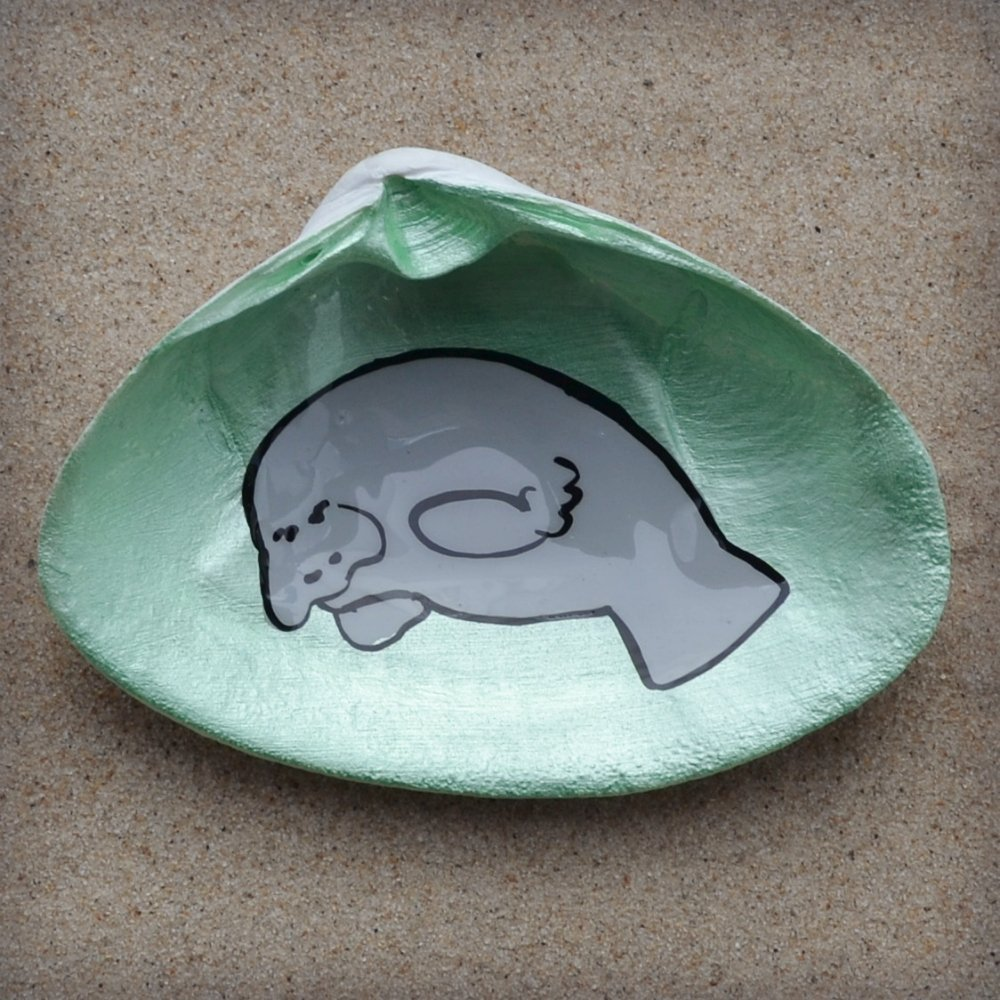 Trinket Dish Manatee Shell Dish Soap Dish Ocean Decor Home Accent Catchall Dish Ring Dish Spoon Rest Jewelry Dish